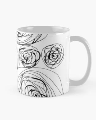 Screenshot_2019-05-19 'A ROSE IS ' Mug by m e l a n i a e m m a
